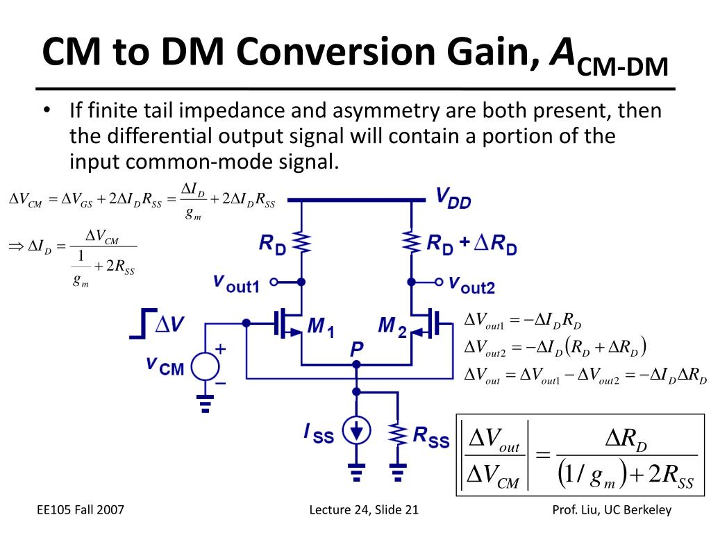 CM to DM Conversion Gain,