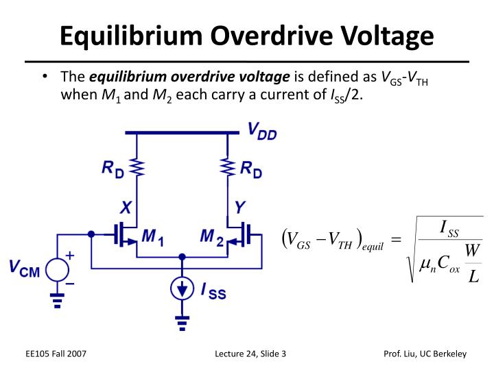 Equilibrium overdrive voltage
