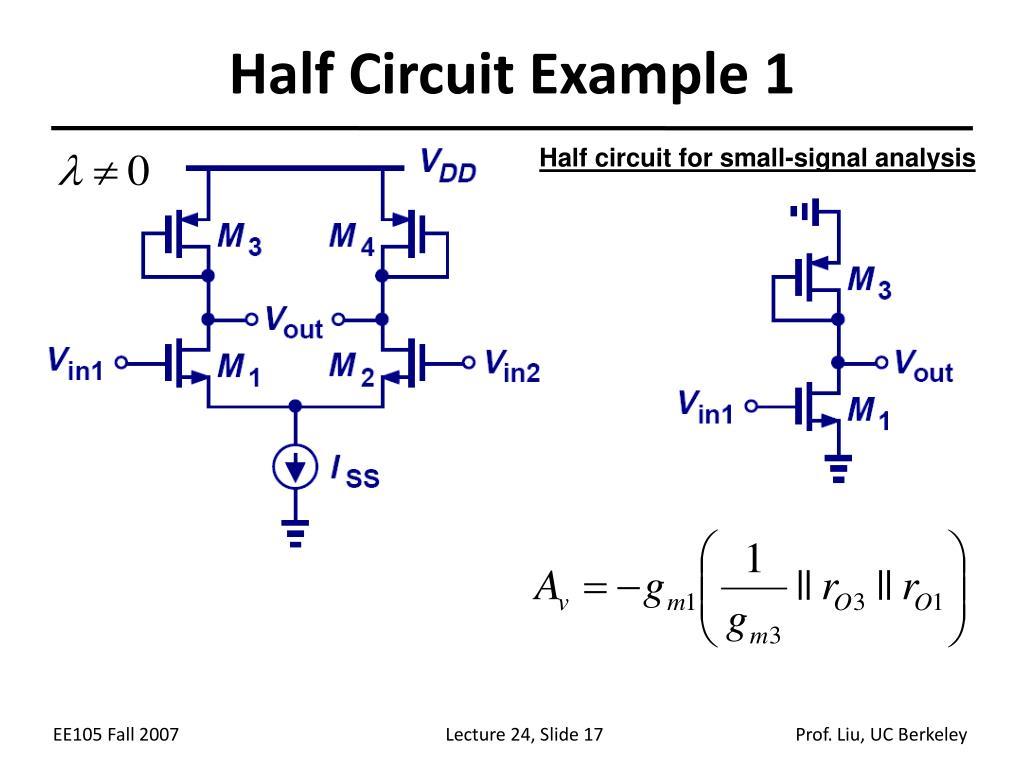Half Circuit Example 1