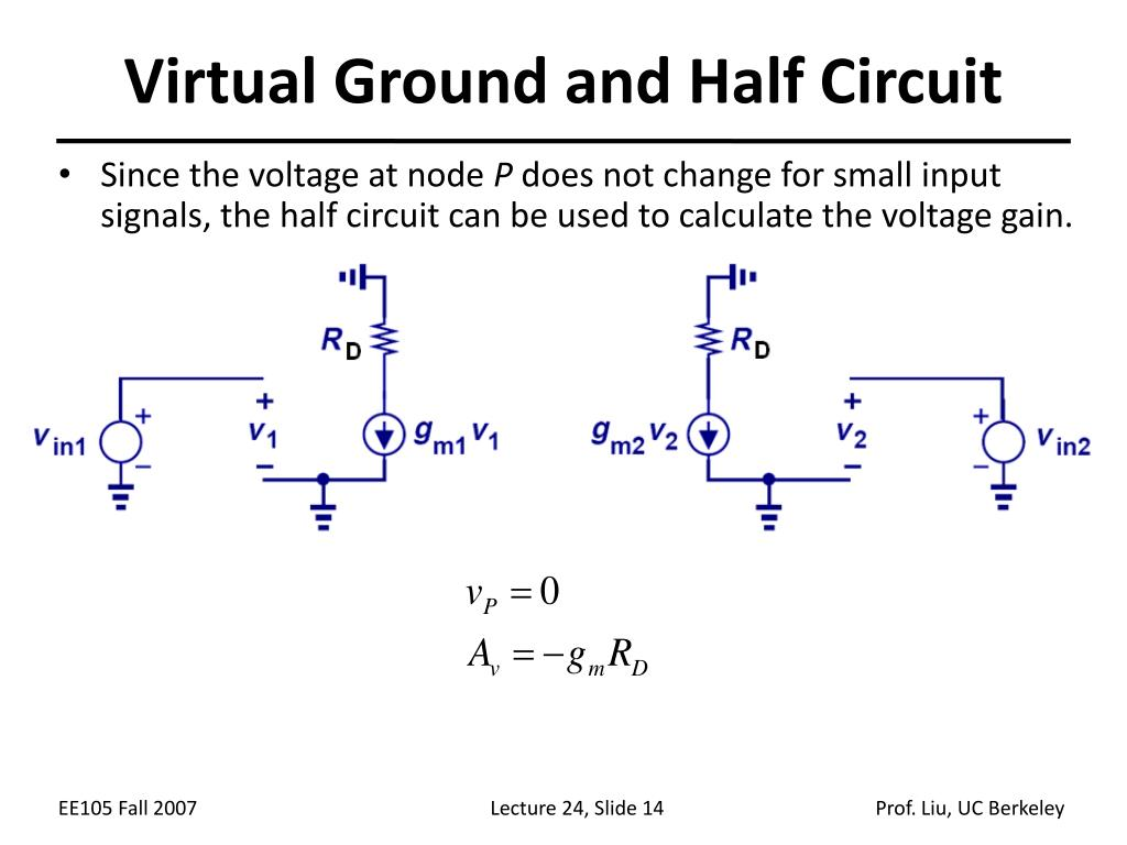 Virtual Ground and Half Circuit