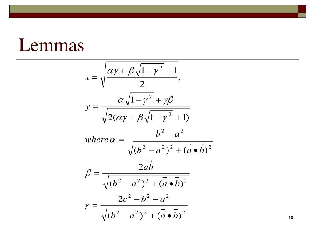 Lemmas