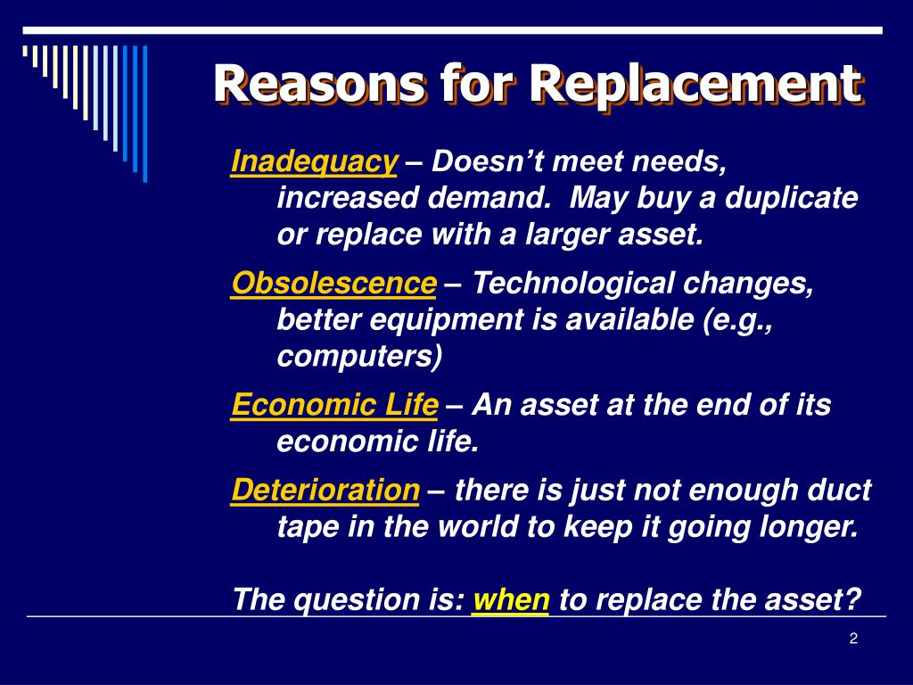 Reasons for Replacement