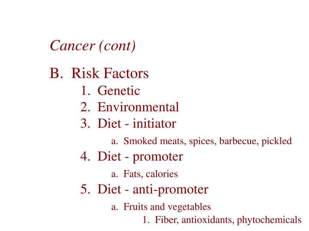 Cancer (cont)