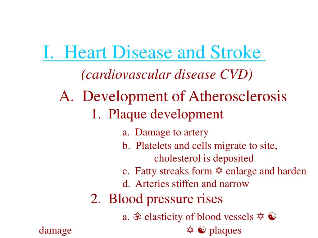 I.  Heart Disease and Stroke