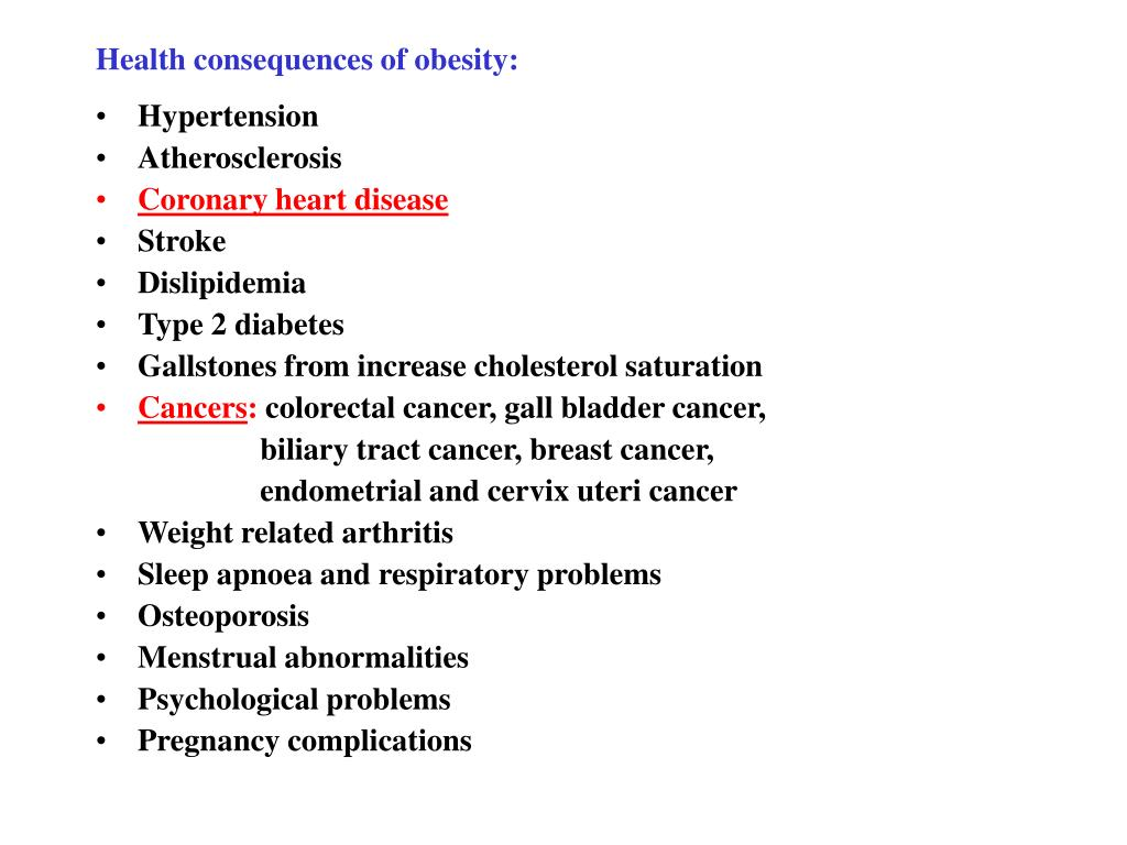 Health consequences of obesity: