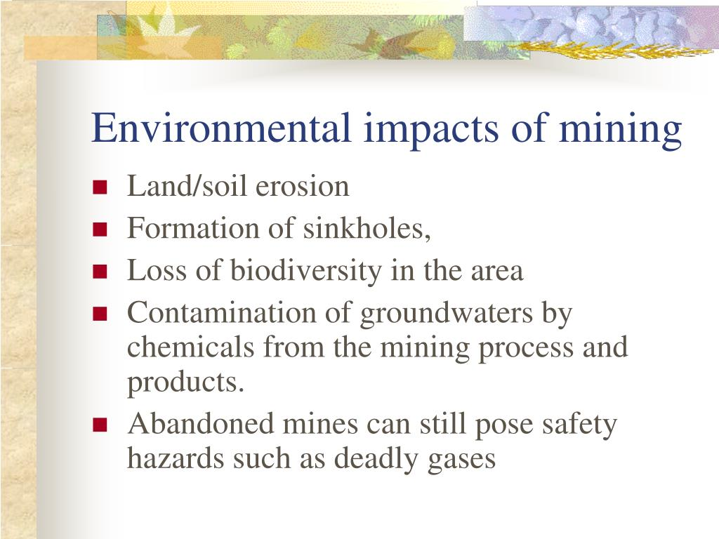 Environmental impacts of mining