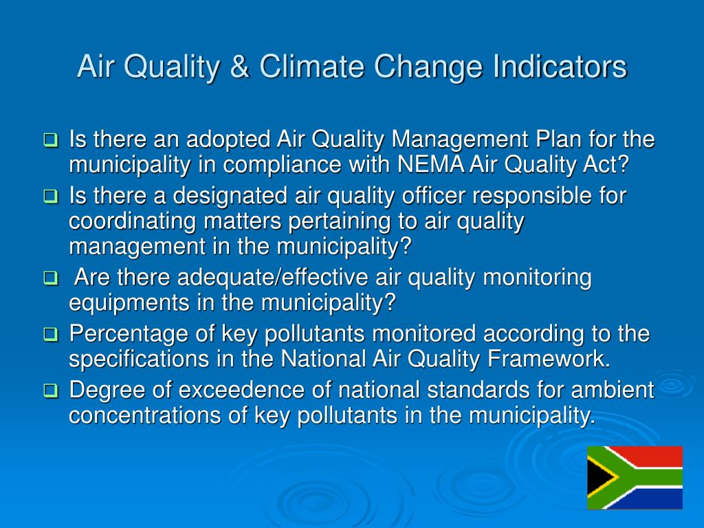 Air Quality & Climate Change Indicators