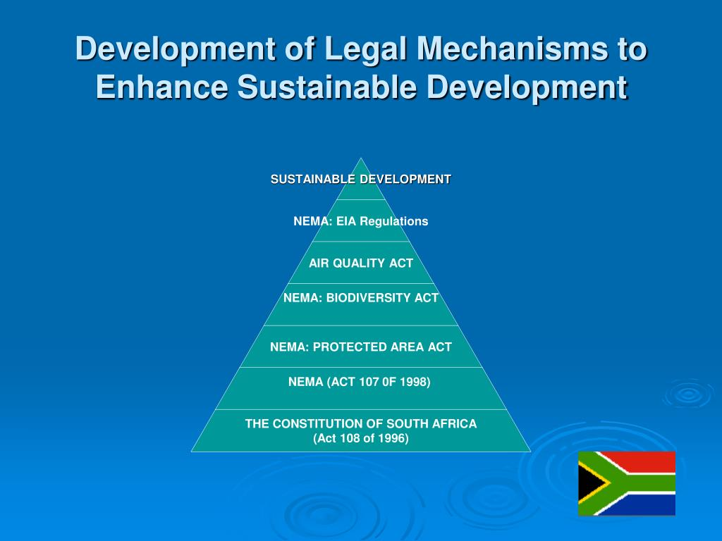Development of Legal Mechanisms to Enhance Sustainable Development
