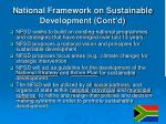 national framework on sustainable development cont d
