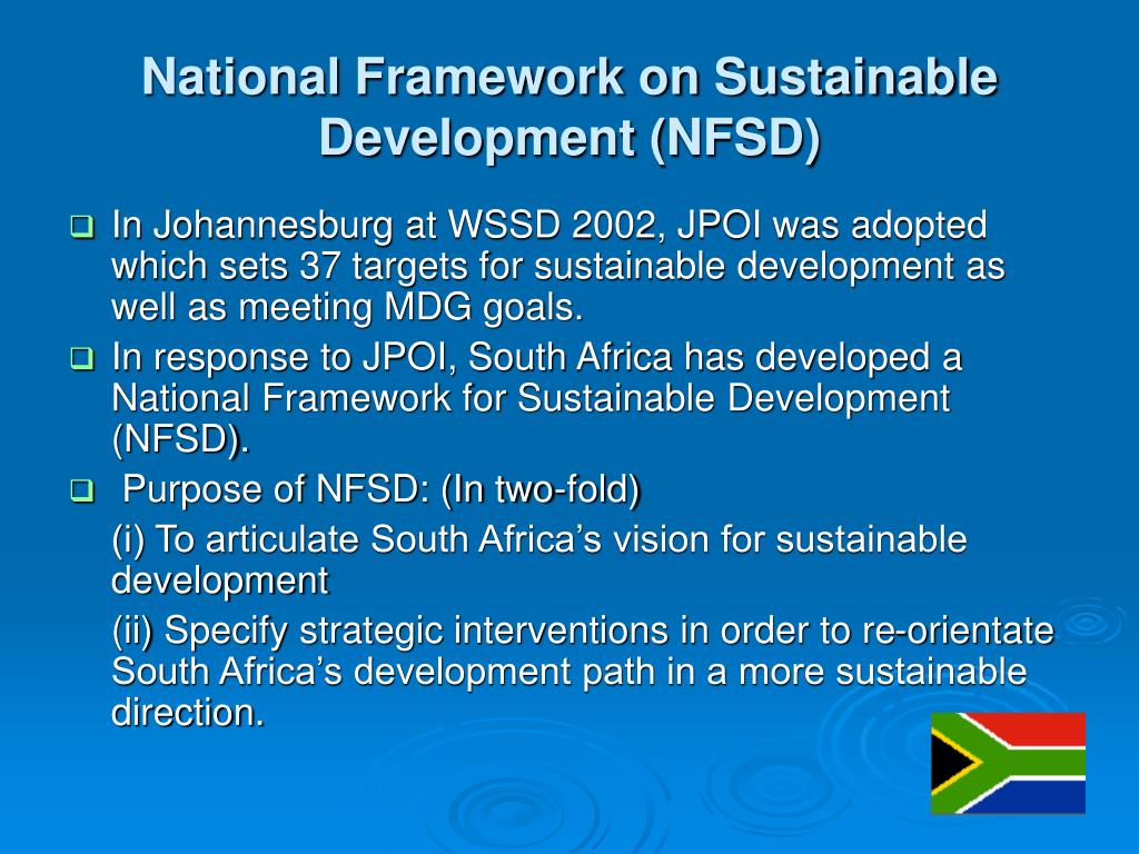 National Framework on Sustainable Development (NFSD)