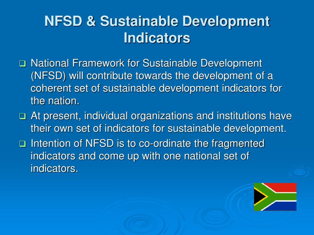 NFSD & Sustainable Development Indicators