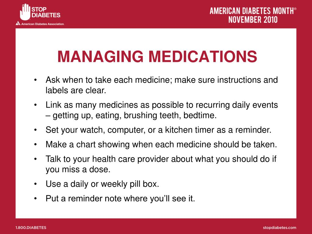 MANAGING MEDICATIONS
