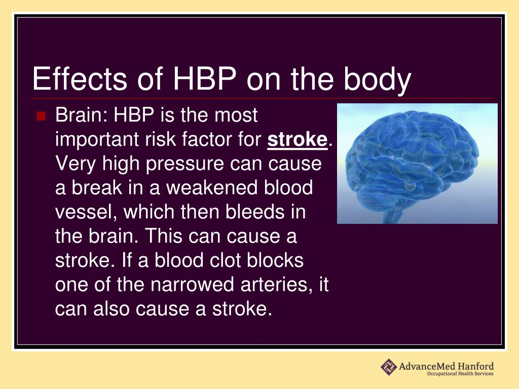 Effects of HBP on the body