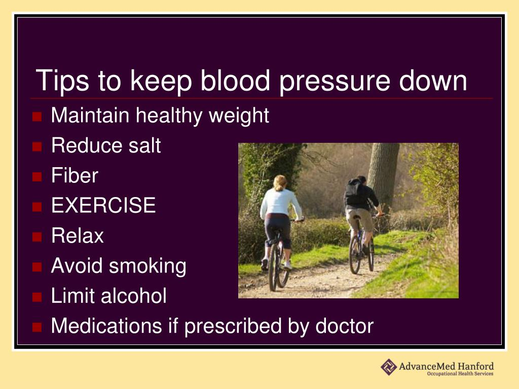 Tips to keep blood pressure down