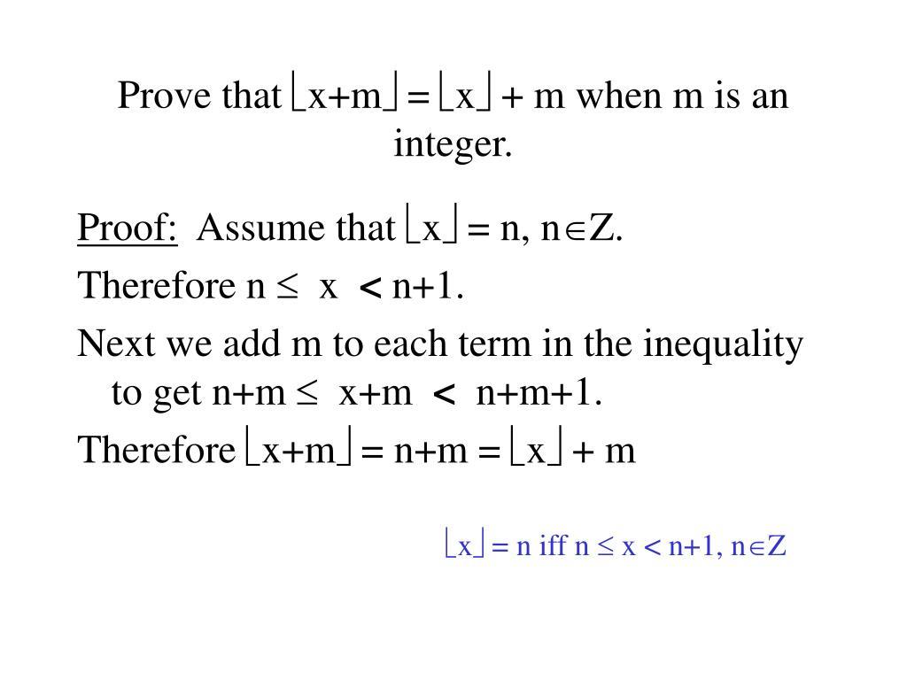 Prove that