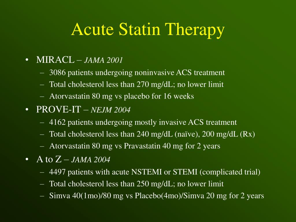 Acute Statin Therapy
