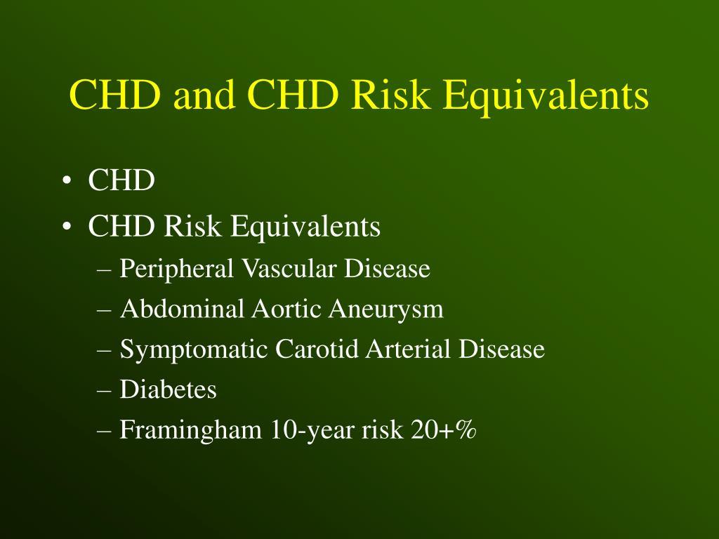 CHD and CHD Risk Equivalents
