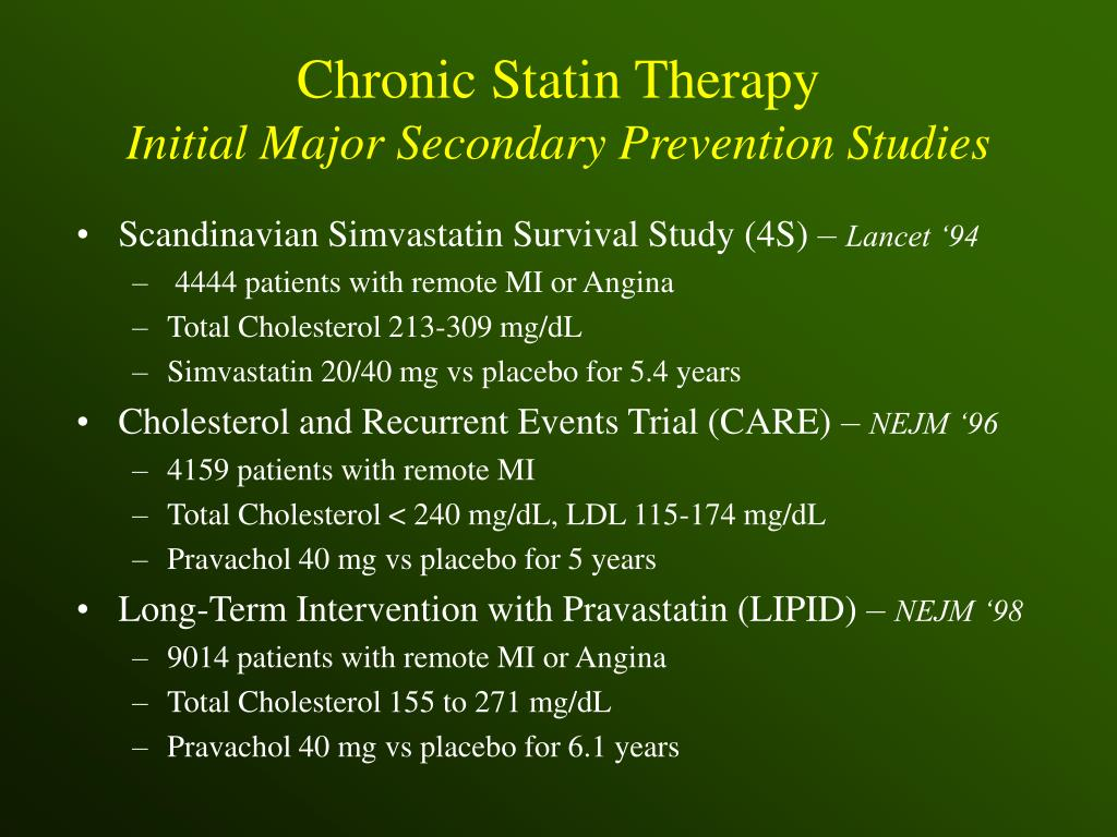 Chronic Statin Therapy