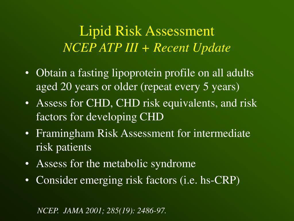 Lipid Risk Assessment