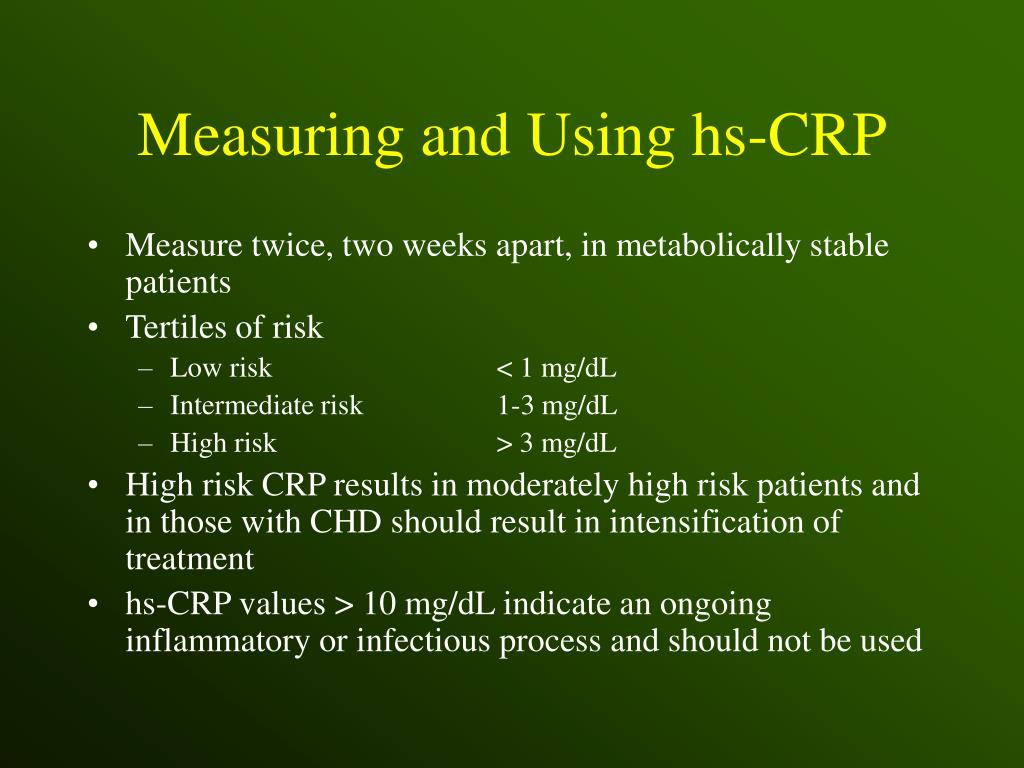 Measuring and Using hs-CRP