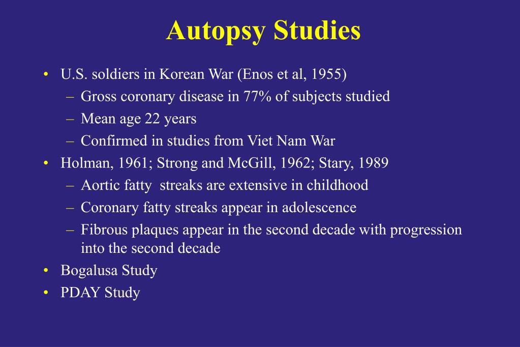 Autopsy Studies