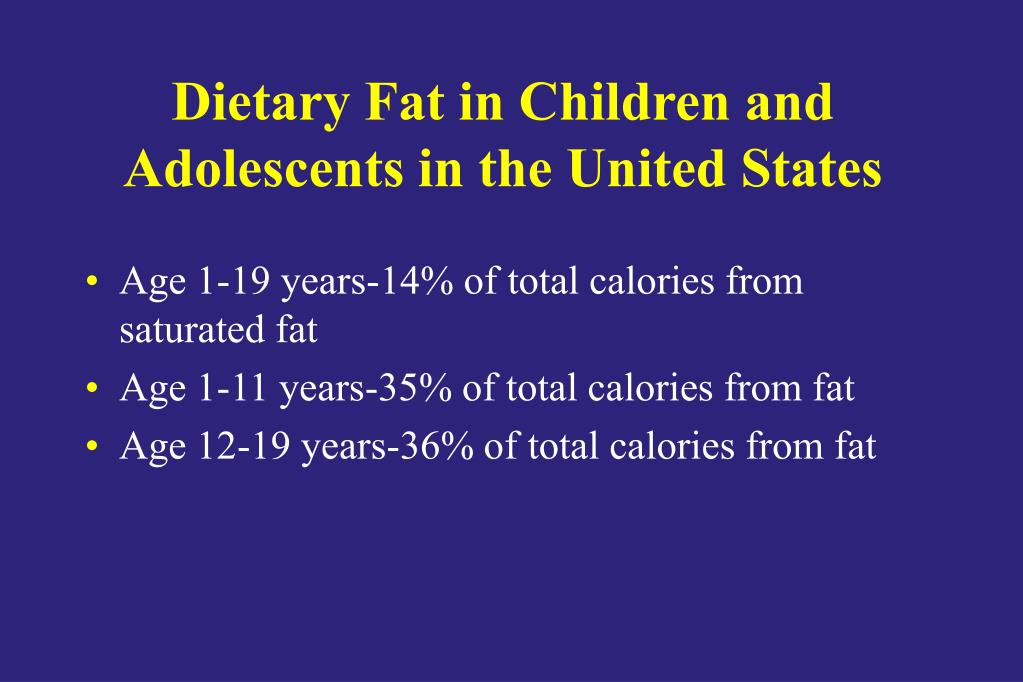 Dietary Fat in Children and Adolescents in the United States