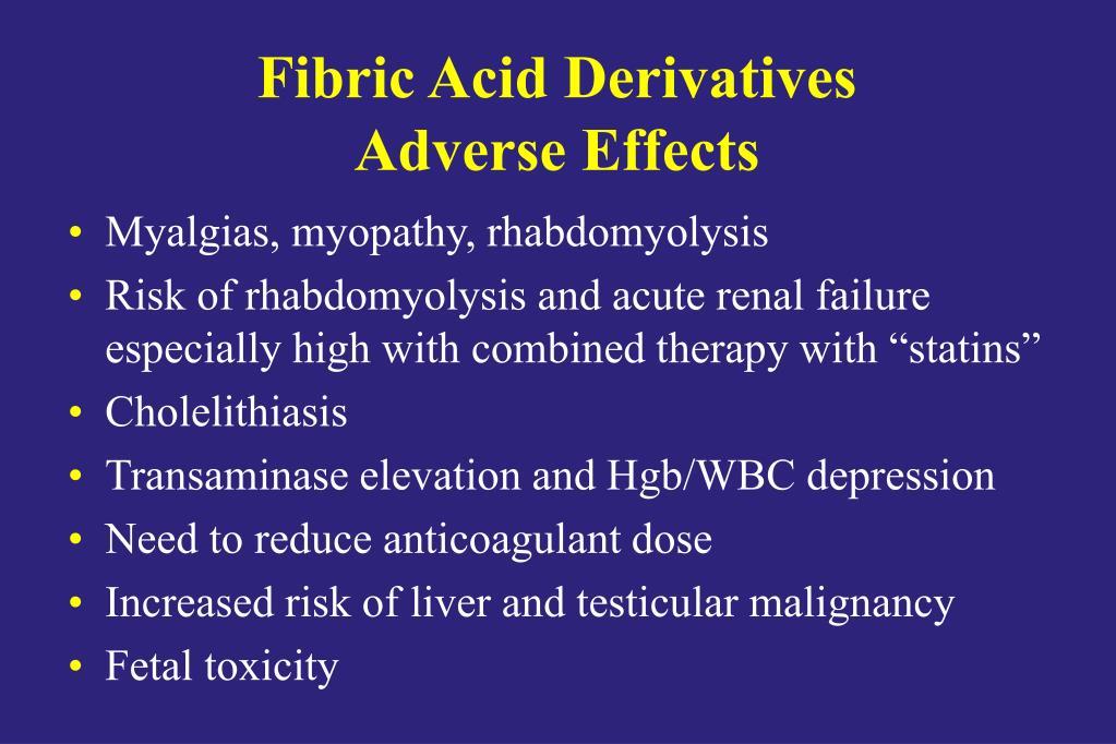 Fibric Acid Derivatives
