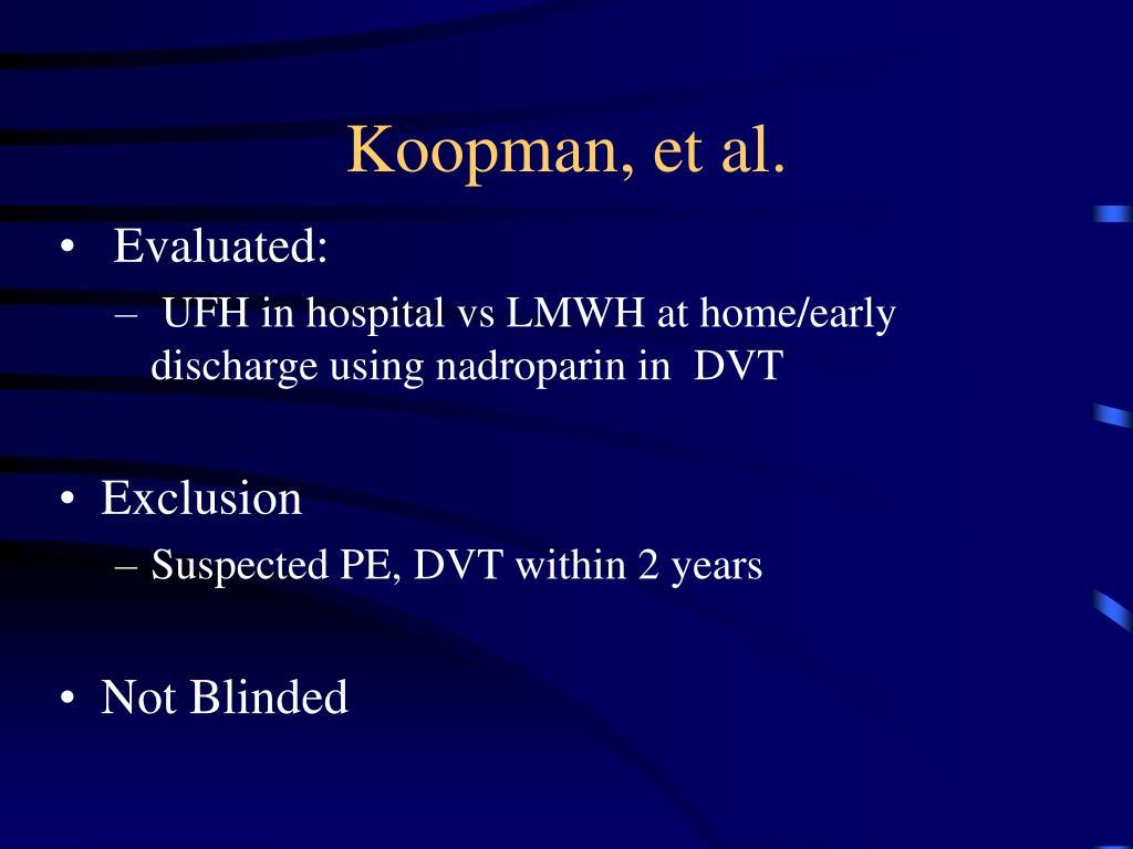 Koopman, et al.