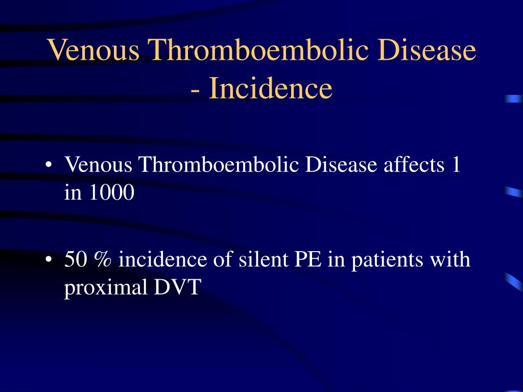 Venous Thromboembolic Disease - Incidence