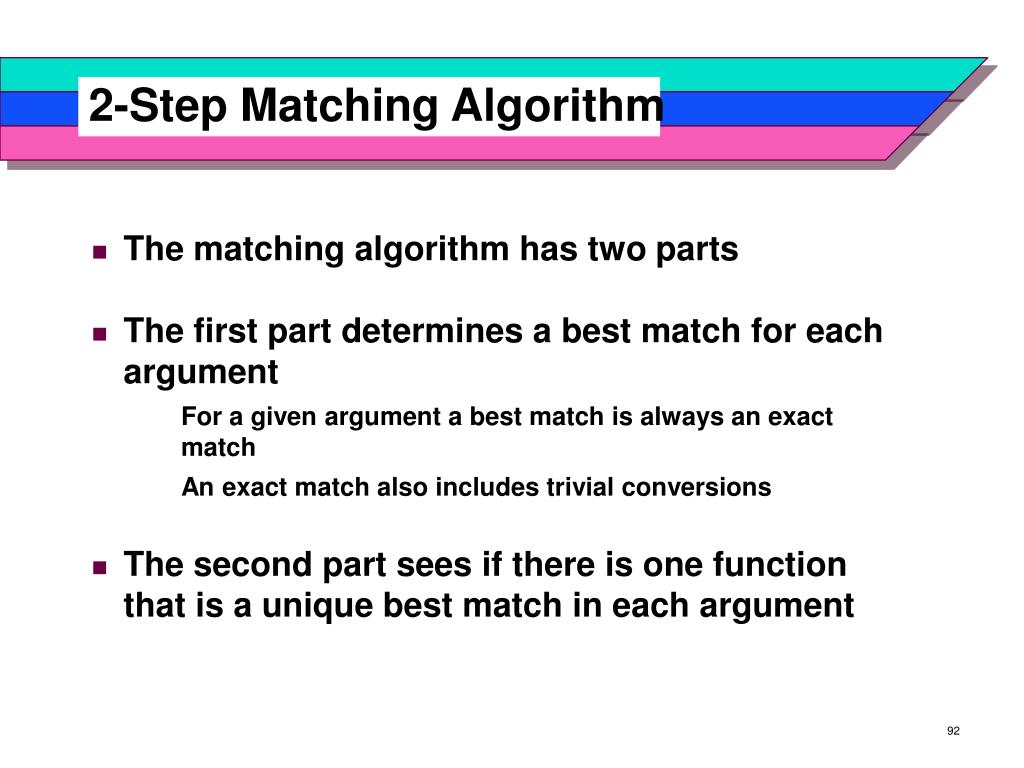 2-Step Matching Algorithm