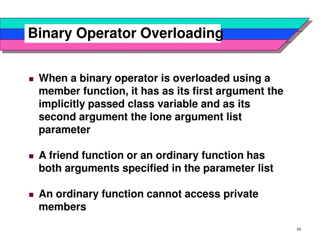 Binary Operator Overloading
