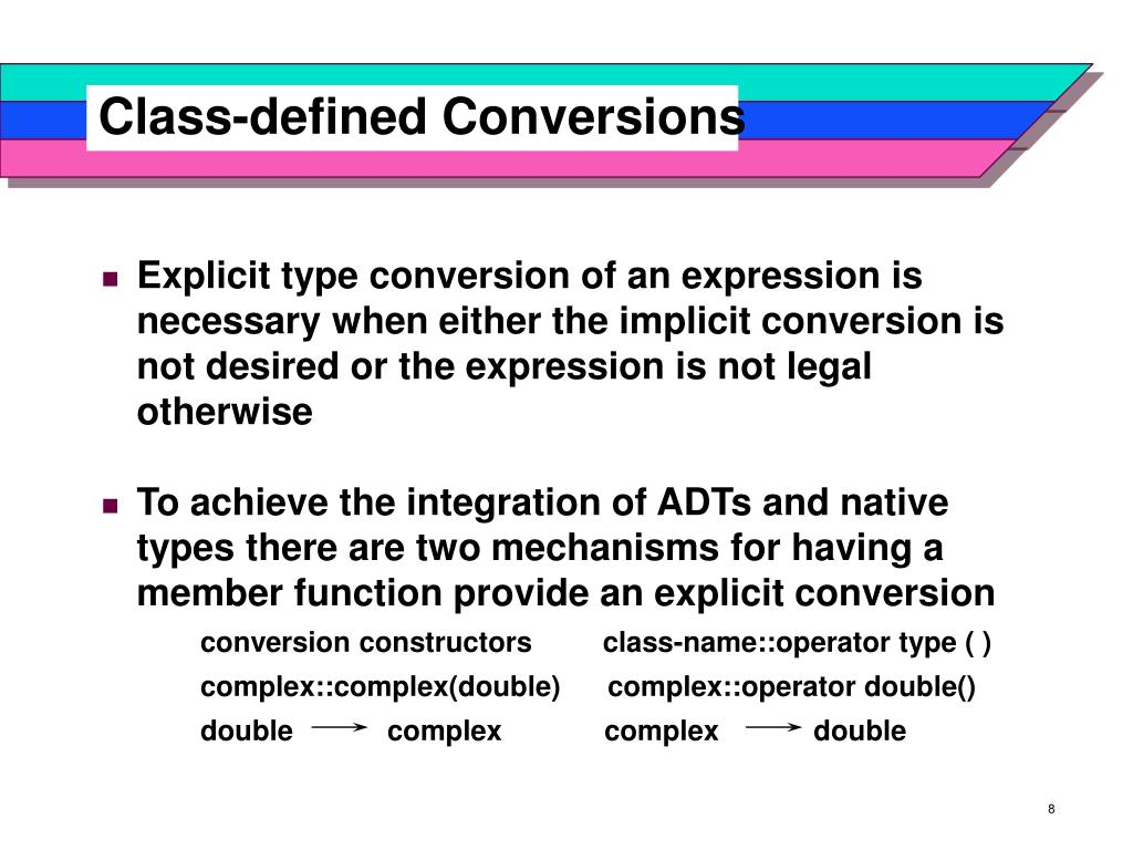 Class-defined Conversions