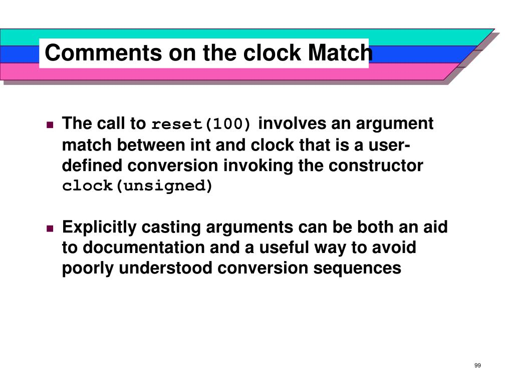 Comments on the clock Match
