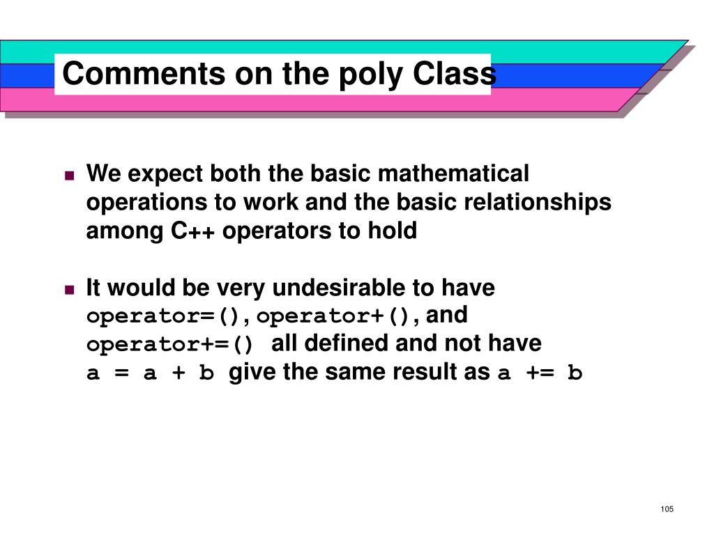 Comments on the poly Class