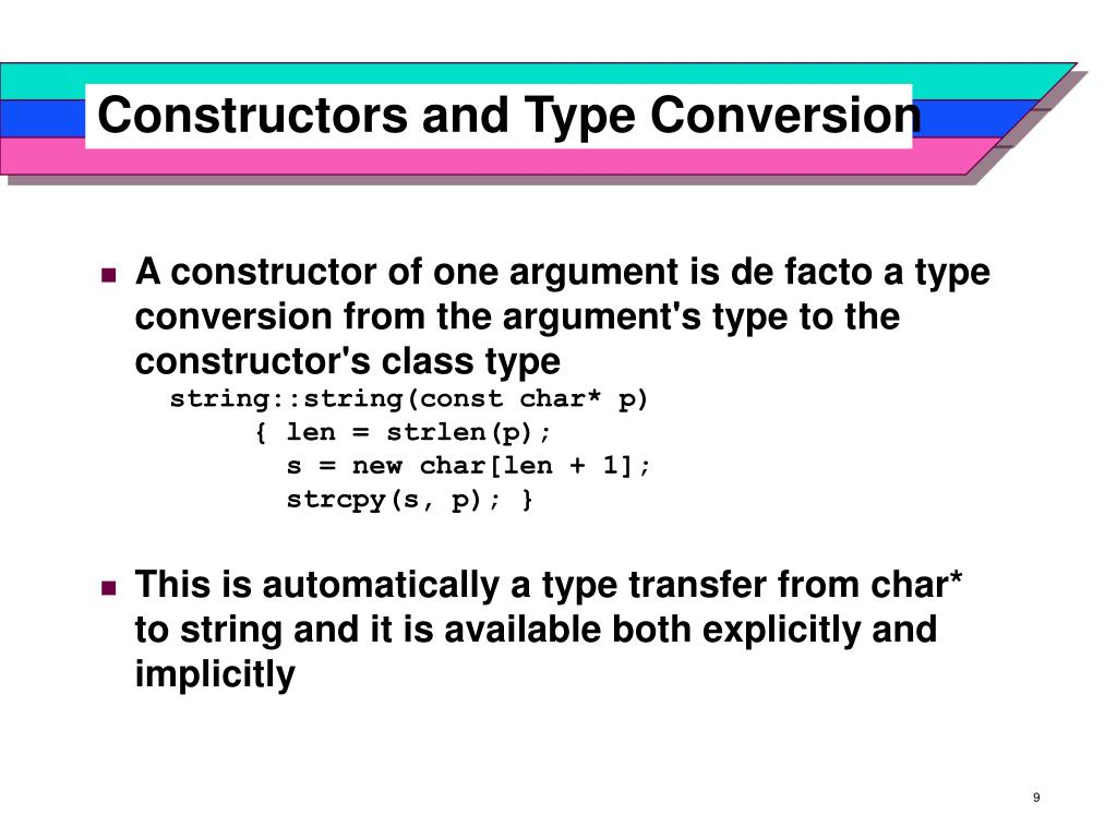 Constructors and Type Conversion