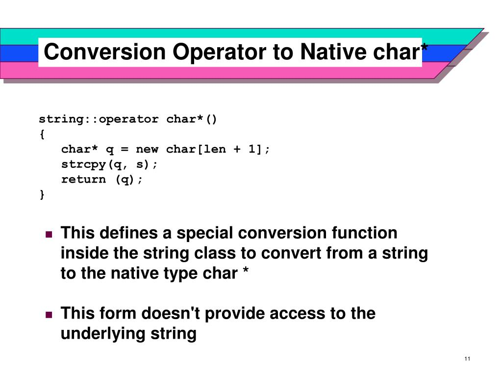 Conversion Operator to Native char*