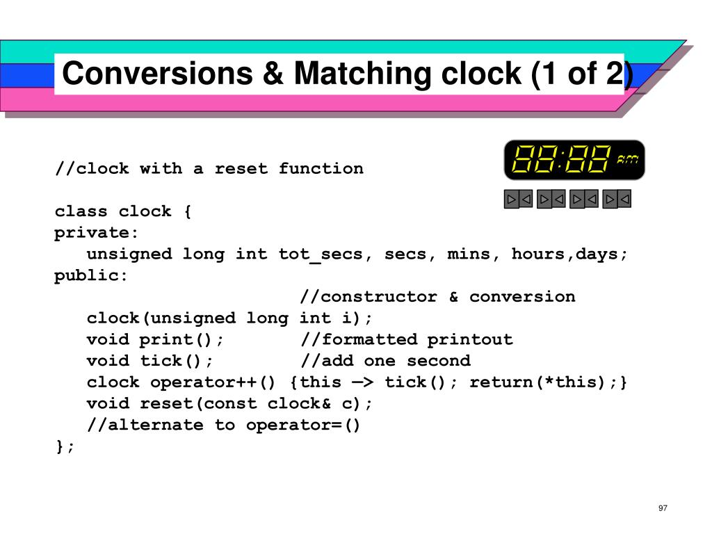 Conversions & Matching clock (1 of 2)