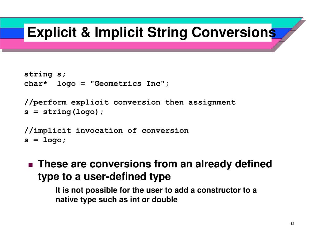 Explicit & Implicit String Conversions