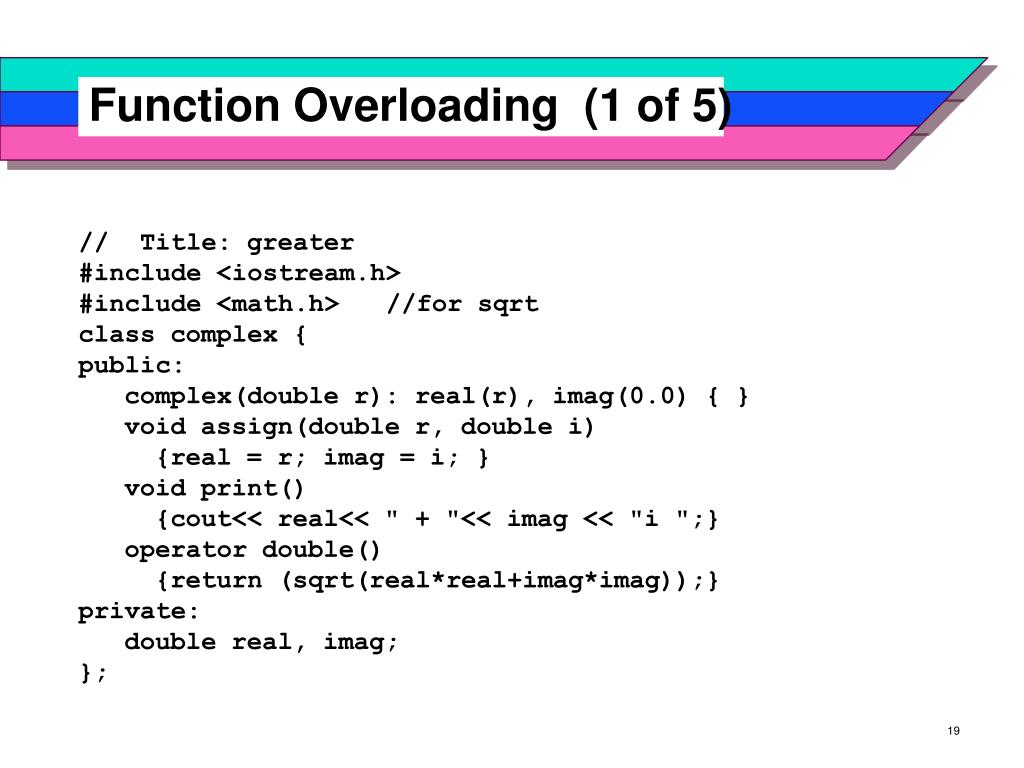 Function Overloading  (1 of 5)