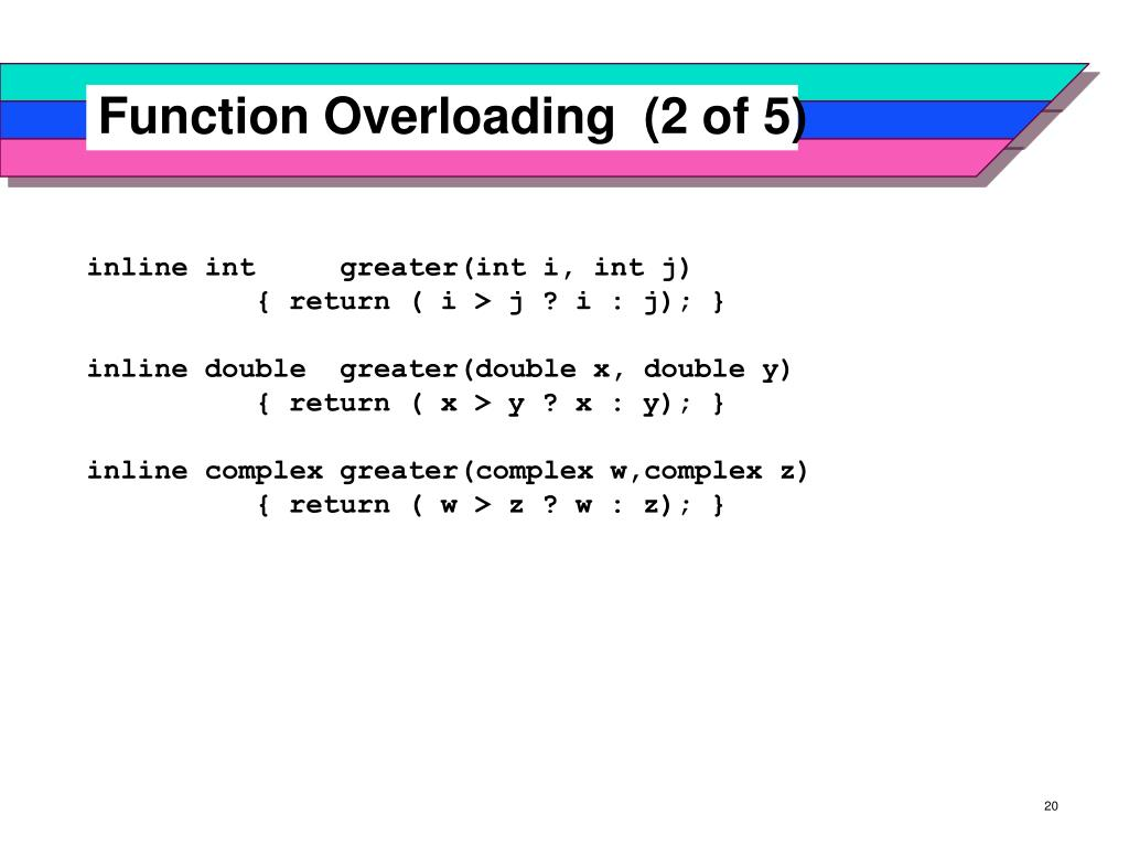 Function Overloading  (2 of 5)