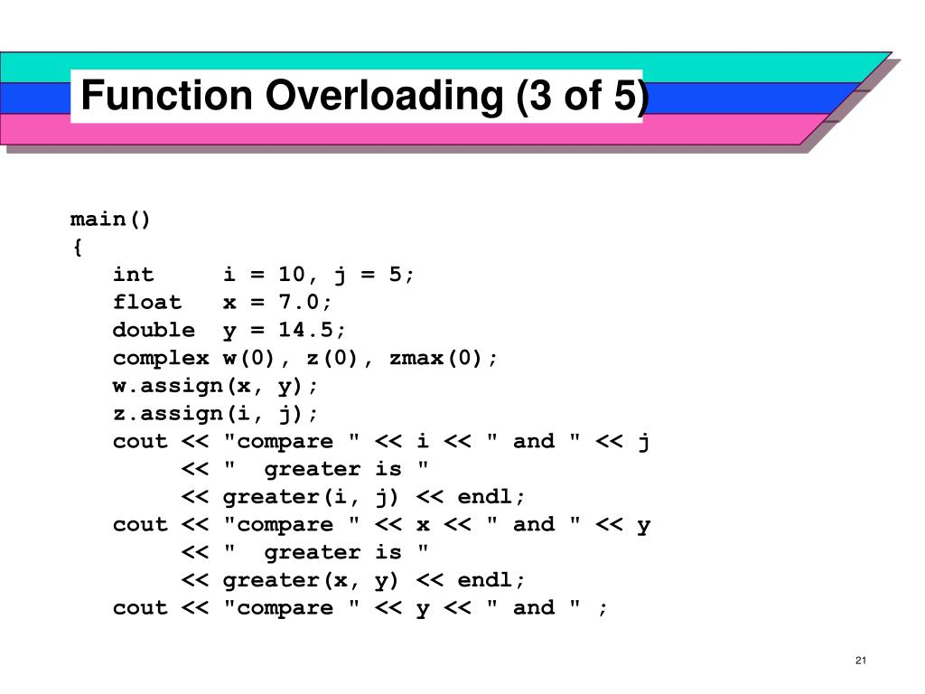 Function Overloading (3 of 5)