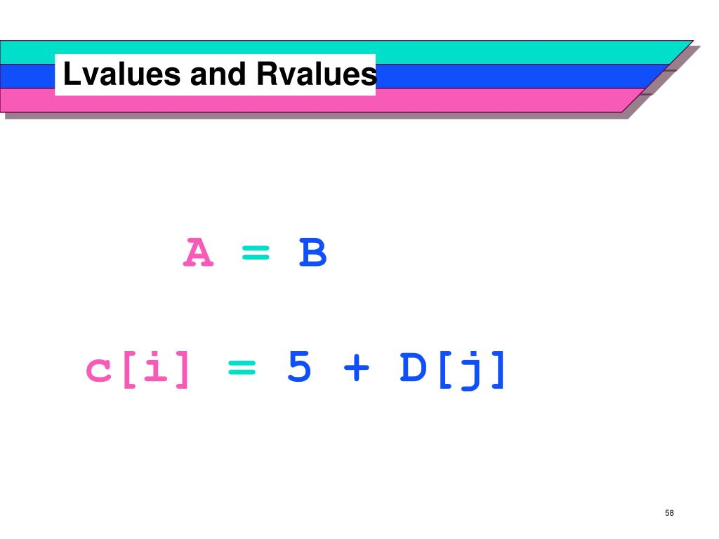 Lvalues and Rvalues