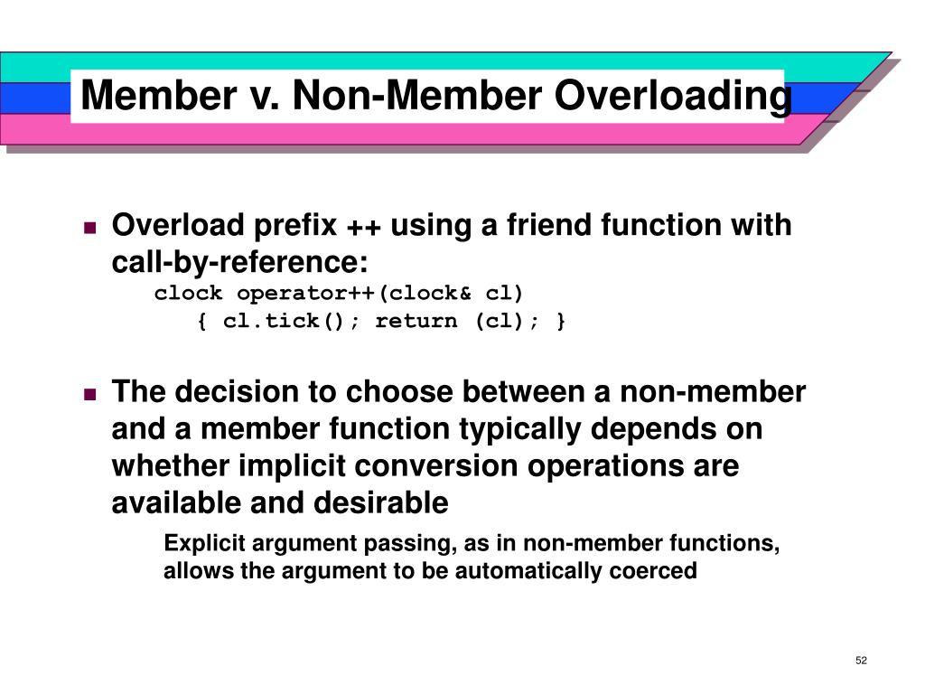 Member v. Non-Member Overloading