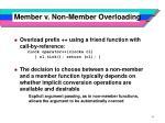 member v non member overloading