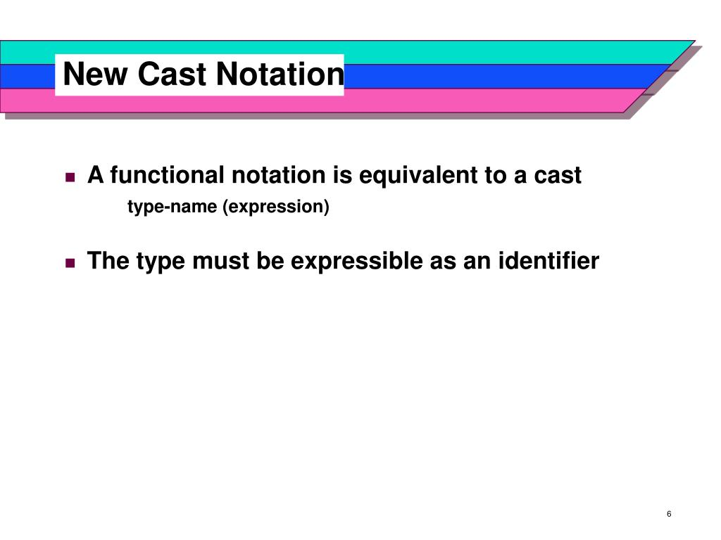 New Cast Notation