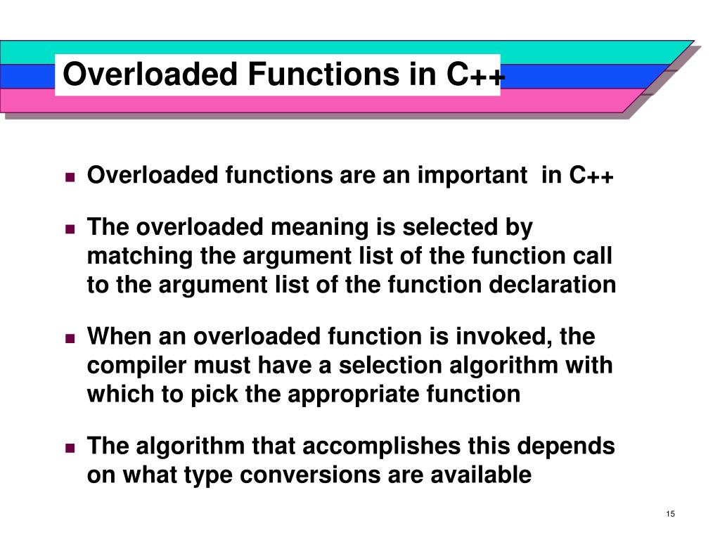 Overloaded Functions in C++