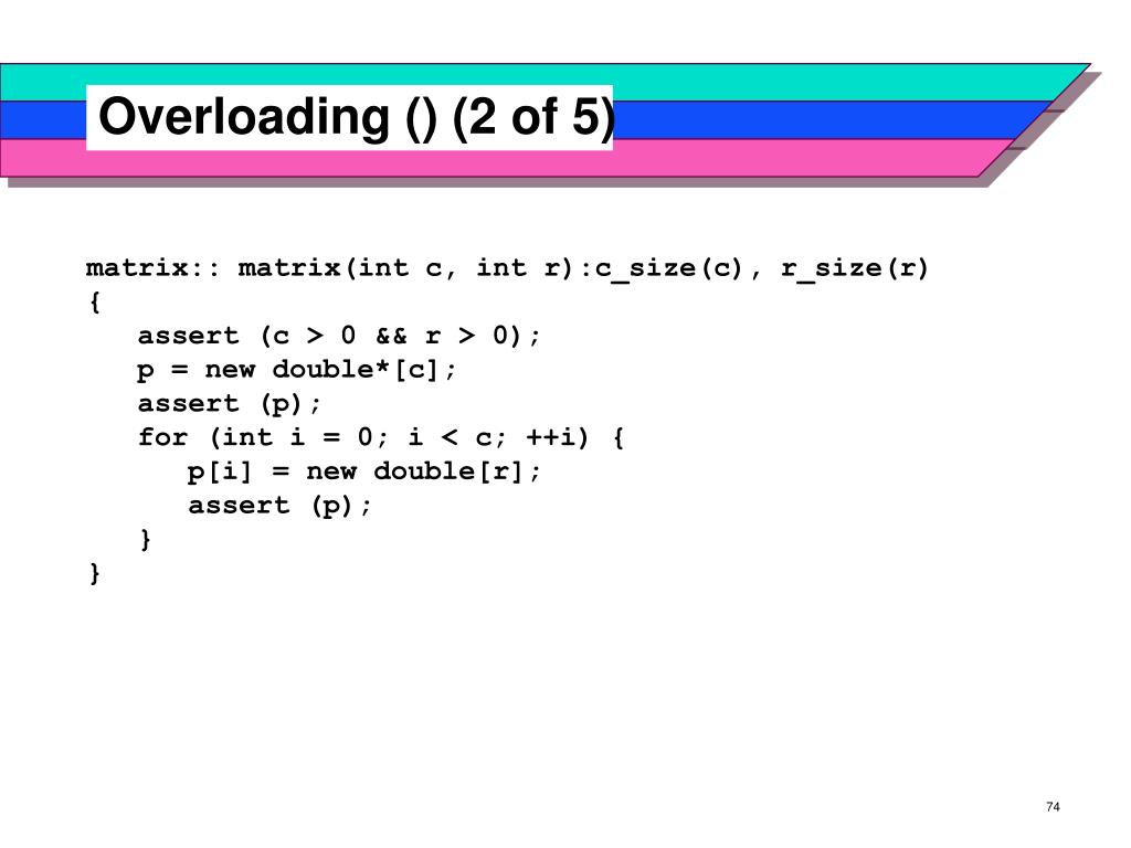 Overloading () (2 of 5)