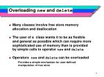 overloading new and delete