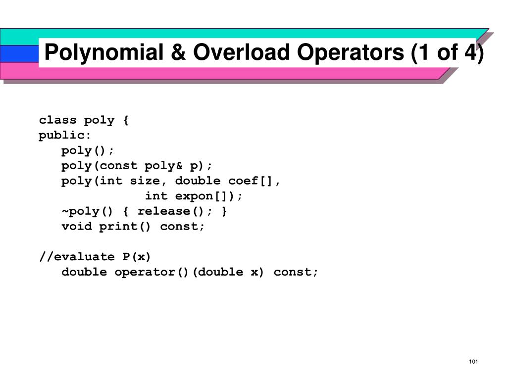 Polynomial & Overload Operators (1 of 4)