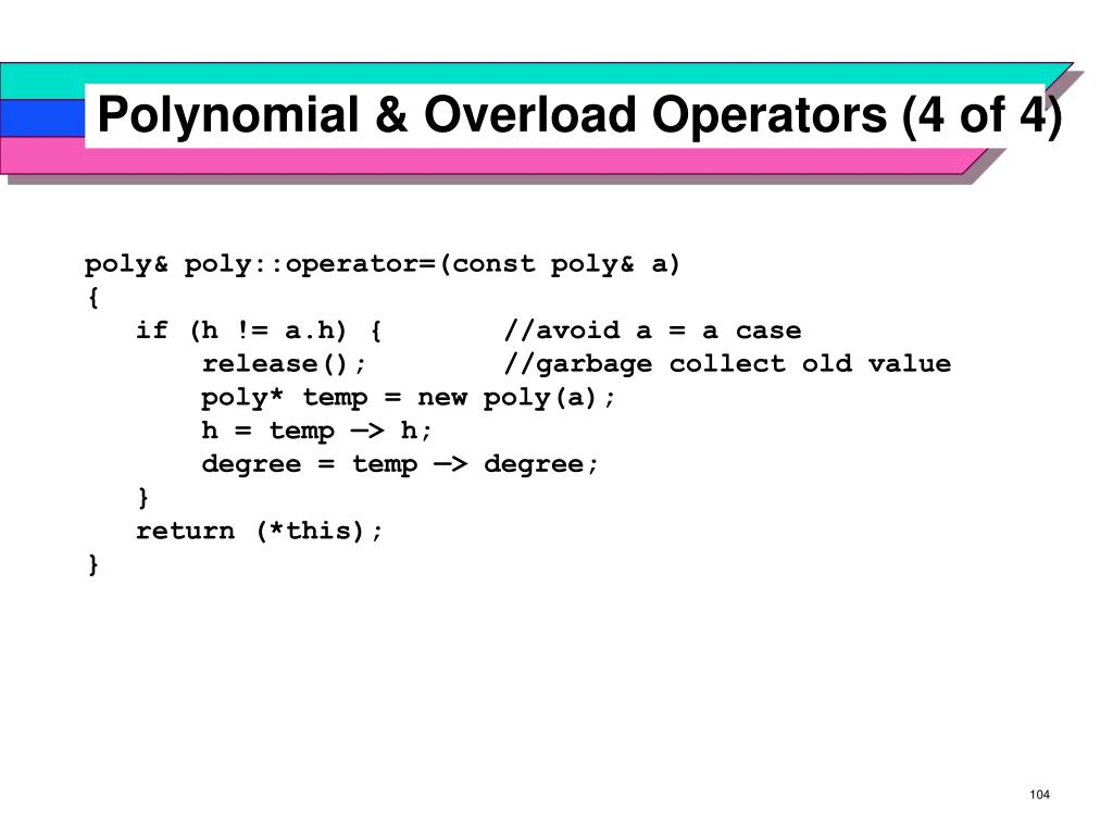 Polynomial & Overload Operators (4 of 4)
